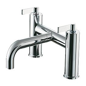 Ideal Standard Silver Bath Filler Tap with Pop-Up Waste