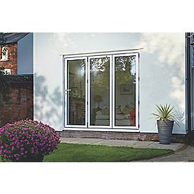 Spaceslide Bi-Fold Double-Glazed Patio Door LH White 2394 x 2094mm