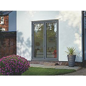Spaceslide Bi-Fold Double-Glazed Patio Door RH Grey 1794 x 2094mm