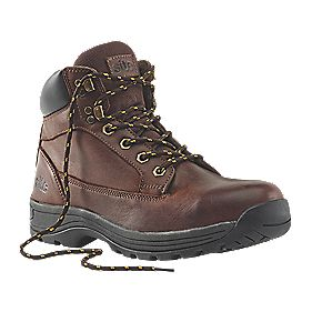Site Milestone Safety Boots Brown Size 8