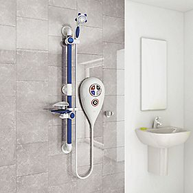 AKW Luda Thermostatic Electric Shower White 10kW