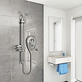 AKW Luda S Thermostatic Electric Shower Chrome 8.5kW
