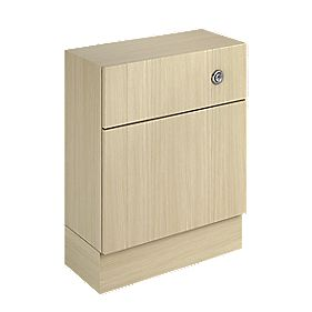 WC Unit & Cistern Oak Shaker 600mm
