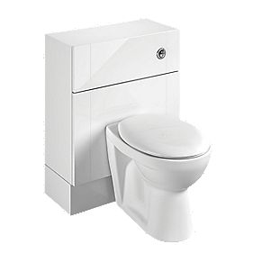 Bathroom WC Unit Inc Toilet & Cistern White Shaker 600 x 300 x 810mm