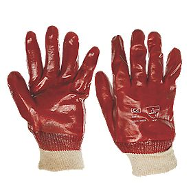 General Handling PVC Gloves Red Large