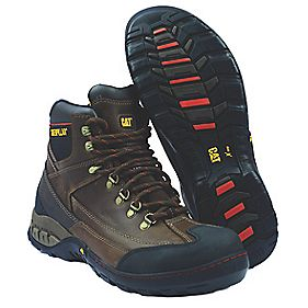 Caterpillar Dynamite Brown Safety Boots Size 8