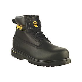 CAT Holton S3 Safety Boots Black Size 8