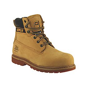 Cat Holton S3 Safety Boots Honey Size 8