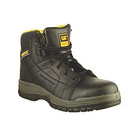 "Caterpillar Dimen 6"" Black Safety Boots Size 10"