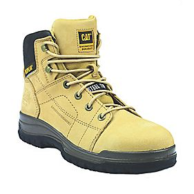 "Caterpillar Dimen 6"" Honey Safety Boots Size 8"