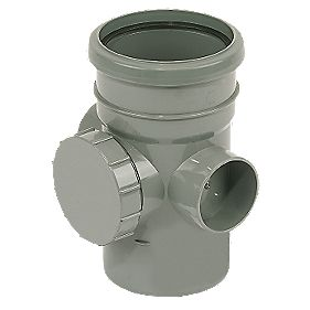 Access Pipe Single Socket Grey SP274