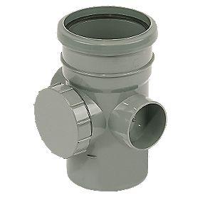 Access Pipe Single Socket Grey SP274