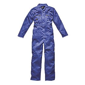 "Dickies Redhawk Zip Front Coverall Royal Blue Large 44"" Chest 30"" L"