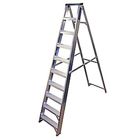 Lyte BSBB10 Swingback Builders Step Ladder Aluminium 10-Tread