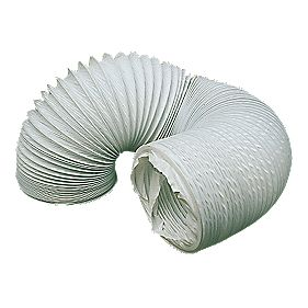 Manrose PVC White 3m x 100mm Ducting Hose