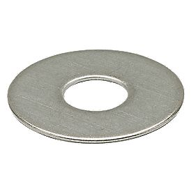 Large Flat Steel Washers BZP M5 Pack of 10