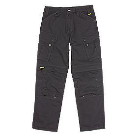 "DeWalt Combat Ripstop Trousers Black 32"" W 32"" L"