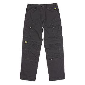 "DeWalt Combat Ripstop Trousers Black 40"" W 32"" L"