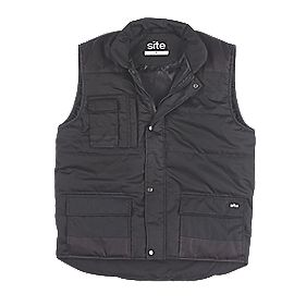 "Site Maple Body Warmer Black X Large 53"" Chest"