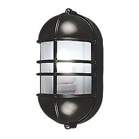 50161 Caged LED Bulkhead Wall Light Black 27W
