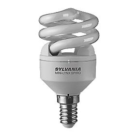 Sylvania Spiral Compact Fluorescent Lamp SES 8W