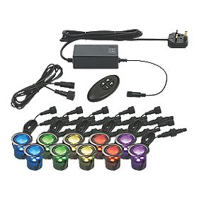 Masterlite Apollo 30mm Deck Light Kit Pol. SS RGB Pack of 10