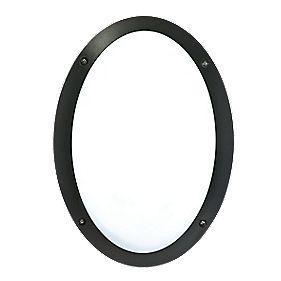 50216 Oval Bulkhead Black & White 23W