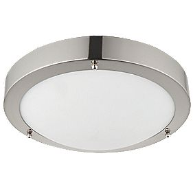 led bathroom ceiling light satin nickel 9w bathroom ceiling lights
