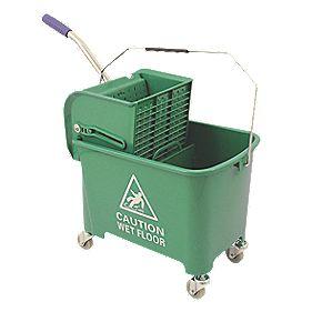 Mobile Mop Bucket Green 20Ltr