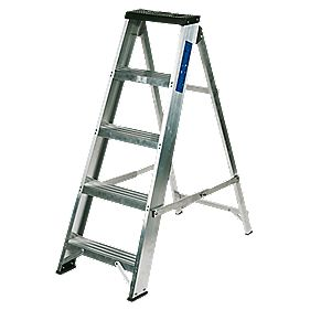 Lyte BSBB5 Swingback Builders Step Ladder Aluminium 5-Tread