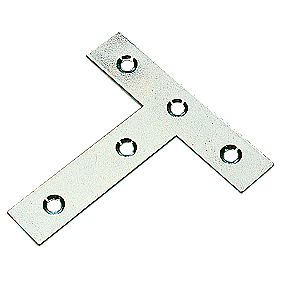 Tee Plates Zinc Plated 76 x 77 x 16mm Pack of 10