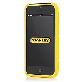 Stanley Technician iPhone 5 Mobile Phone Case & Holster Black & Yellow