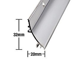 Stormguard Rain Deflector Polished Aluminium 838mm