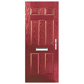 Portico Birkdale Composite Front Door Red LH 920 x 2055mm