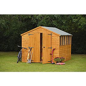 Larchlap Shiplap Apex Workshop 8' x 12' x 2.4m (Nominal)