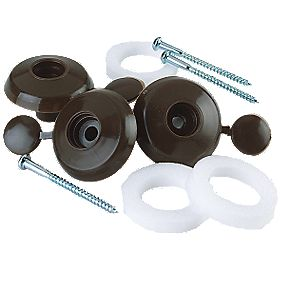 Corotherm Fixing Buttons Brown 16mm Pack of 10