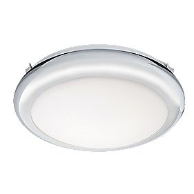 Masterlite Mula Single Bathroom Ceiling Light Chrome Effect Plate 16W