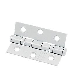 Colour Coated Ball Bearing Hinge White 76x52x2mm Pack of 2