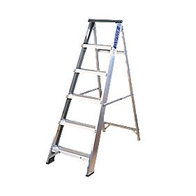 Lyte Swingback Ladder 7-Tread Aluminium
