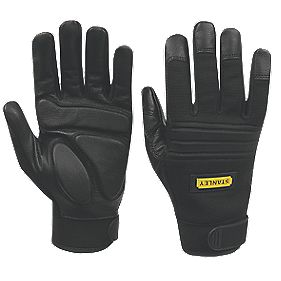 Stanley Specialist Handling Vibration Absorbing Gloves Black Large
