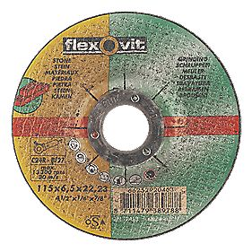 Flexovit Stone Grinding Discs 115 x 6 x 22.23mm Bore Pack of 5