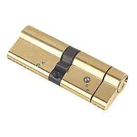 Yale Anti-Snap Euro Double Cylinder Lock 45-45 (90mm) Polished Brass