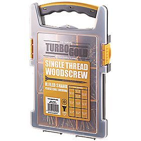 TurboGold Woodscrews Trade Grab Pack Double-Self-Countersunk Pack of 1000
