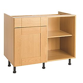 Golden Oak 800 Corner D/L Base Unit Soft Close