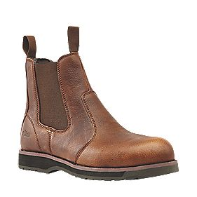 Site Topaz Chelsea Safety Boots Brown Size 9