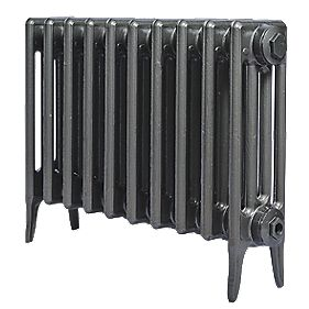 Cast Iron 460 Designer Radiator 4-Column Gun Metal Grey H: 460 x W: 769mm