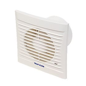 Vent-Axia 100H W Bathroom Humidistat Extractor Fan