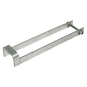 Throw Over Gate Catch Loop Spelter Galvanised 60 x 410 x 95mm