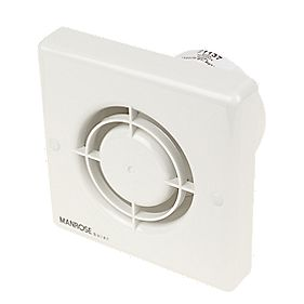Manrose QF100H 5W Quiet Fan Bathroom Axial Extractor Fan w/Timer/Humidistat