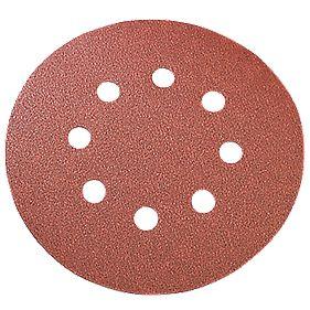 Titan Sanding Discs Punched 125mm 80 Grit Pk10